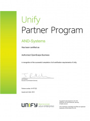 Unify Authorized OpenScape Business 2015
