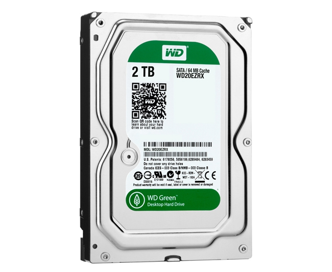 "Диск HDD Western Digital Green SATA III (6Gb/s) 3.5"" 2TB, WD20EZRX"