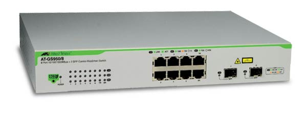 Коммутатор Allied Telesis AT-GS950 Настраиваемый (Smart) 10-ports, AT-GS950/8-XX
