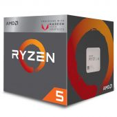 Картинка Процессор AMD Ryzen 5-2400G 3600МГц AM4, Box, YD2400C5FBBOX
