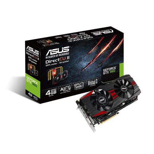 Видеокарта Asus nVidia GeForce GTX 960 GDDR5 4GB, GTX960-DC2-4GD5-BLACK