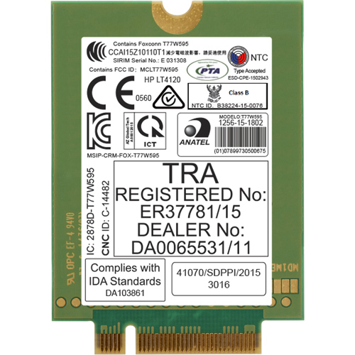 Сетевая карта HP lt4120 LTE/EV-DO/HSPA+ , N8T16AA