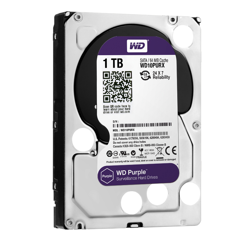 "item-slider-more-photo-Фото Диск HDD Western Digital Purple SATA III (6Gb/s) 3.5"" 1TB, WD10PURX - фото 1"