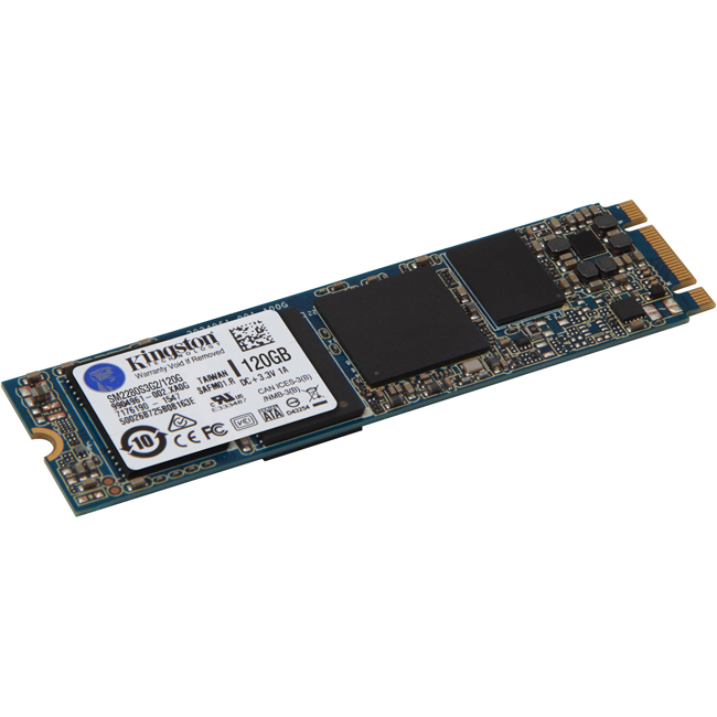 Диск SSD Kingston SSDNow M.2 SATA G2 M.2 2280 120GB SATA III (6Gb/s), SM2280S3G2/120G