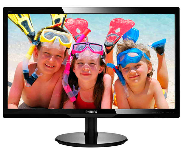 "Монитор Philips 246V5LHAB 24"" LED TN Чёрный, 246V5LHAB/00"