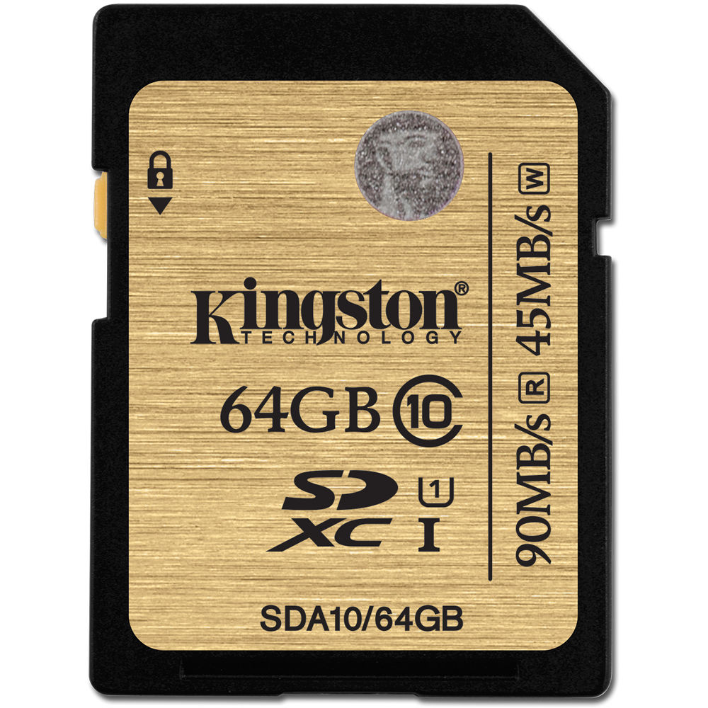 Карта памяти Kingston SDXC Class 10 64GB, SDA10/64GB