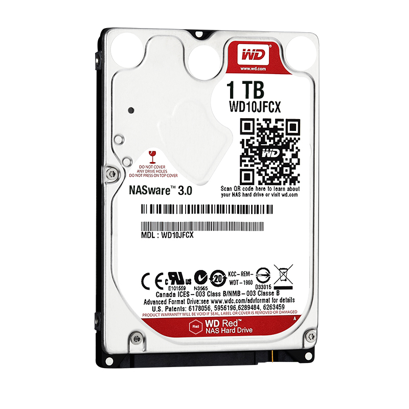 "Диск HDD Western Digital Red SATA III (6Gb/s) 2.5"" 1TB, WD10JFCX"