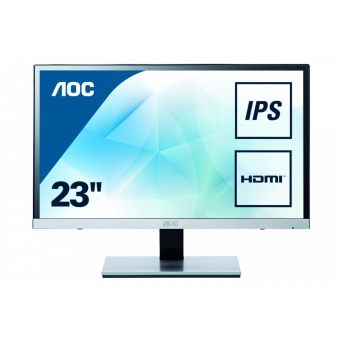 "Монитор AOC - I2367FM, 23"", 16:9, LED, IPS, 5ms, 250cd/m², 1000:1, 1920x1080 (Full HD), 76Hz, VGA, 1x HDMI, speakers, цвет Серебристый, I2367FM - фото 1"