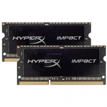 Комплект памяти Kingston HyperX Impact 16ГБ SODIMM DDR3L non ECC 1866МГц CL11 1.35В (2шт.) HX318LS11IBK2/16
