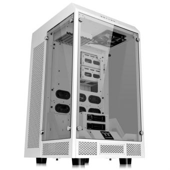 "Корпус Для ПК Thermaltake - The Tower Snow Edition, Tower, без БП, (mITX/mATX/ATX/E-ATX), 2х2.5""int, 6х3.5""int, 1х5.25"", 4xUSB3.0, цветБелый, CA-1H1-00F6WN-00 - фото 1"