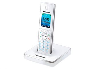 DECT-телефон Panasonic - KX-TG8551RU, standby time 250h, talk time 12h, 1-handset, phone book 350 numbers, search handset, additional handset, key illumination, Белый, KX-TG8551RUW - фото 1