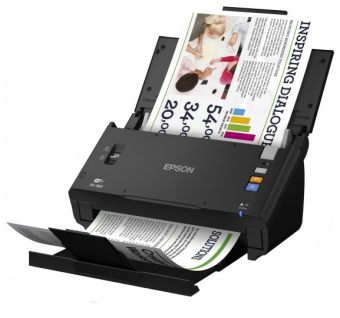 Сканер EPSON - WorkForce DS-560, Протяжный, A4, 600 x 600dpi, 24bit, 25стр/мин, dual sided, Wi-Fi, USB, цвет Чёрный, B11B221401