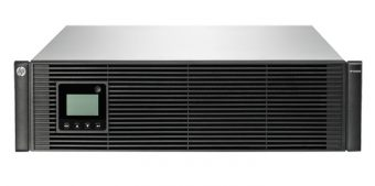 ИБП HP Enterprise - R5000, 5000VA/4500W, Line-Interactive, in (230V IEC 309 32A), out (4xIEC-C320 C13 4xIEC-C320 C19), Hot Swap User Replaceable Batteries , LCD , Rack, 3U, цвет Чёрный, AF461A