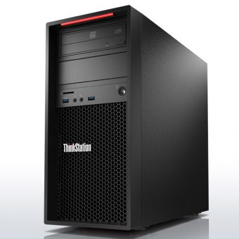 Рабочая станция Lenovo - ThinkStation P310, Intel Core i7 6700 3400MHz, DIMM DDR4 8GB, SATA III (6Gb/s)  256GB, nVidia Quadro K1200 4GB, DVD-RW, Чёрный, Windows 10 Pro 64 downgrade Windows 7 Professional 64, 30AT0044RU - фото 1