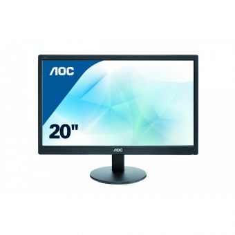 "Монитор AOC E2070SWN 19.5"" LED TN 200кд/м² 1600x900 (HD+) Чёрный E2070SWN/01 - фото 1"