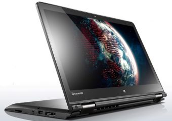 "Ноутбук-трансформер Lenovo ThinkPad Yoga 14 14"" 1920x1080 (Full HD) Intel Core i3 5010U 4 ГБ Hybrid 500GB + 8GB Intel HD Graphics 5500 TouchScreen Windows 8.1 Pro 64, 20DM003LRT - фото 1"