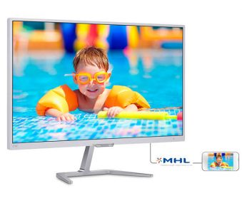 "Монитор Philips - 276E7QDSW, 27"", 16:9, PLS, 5ms, 250cd/m², 1000:1, 1920x1080 (Full HD), 75Hz, VGA, 1x DVI, 1x HDMI, цвет Белый, 276E7QDSW/00 - фото 1"