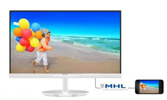 "Монитор Philips 234E5QHAW 23"" LED IPS 250кд/м² 1920x1080 (Full HD) Белый 234E5QHAW/00"