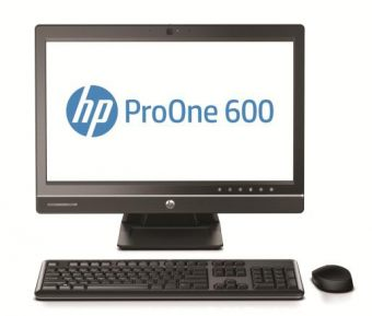 "Моноблок HP - ProOne 600 G1, 21.5"", Intel Core i7 4790S 3200MHz, SODIMM DDR3 4GB, SATA III (6Gb/s)  1TB, Intel HD Graphics 4600, DVD-RW, Wi-Fi, Card-reader, Чёрный, Windows 8 Pro 64 downgrade Windows 7 Professional 64, J7D64EA - фото 1"