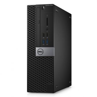 Настольный компьютер Dell - Optiplex 3040, Intel Core i3 6100 3700MHz, DIMM DDR3 4GB, SATA III (6Gb/s)  500GB, Intel HD Graphics 530, noDVD, Чёрный, Linux, 3040-6835 - фото 1