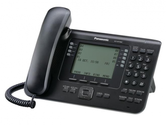 IP-телефон Panasonic - KX-NT560, 1xLAN 1 Гб/с, 1xWAN 1 Гб/с, MGCP, LCD, Bluetooth, PoE, headphone in, additional console, Чёрный, KX-NT560RU-B