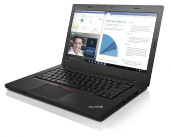 "Ноутбук Lenovo ThinkPad L460 - 14"", 1920x1080 (Full HD), Intel Core i7 6500U 2500MHz, SODIMM DDR3L 8GB, SSD 256GB, AMD Radeon R5 2GB, Bluetooth, Wi-Fi, noDVD, 6cell, Чёрный, Windows 10 Pro 64, 20FUS06J00 - фото 1"