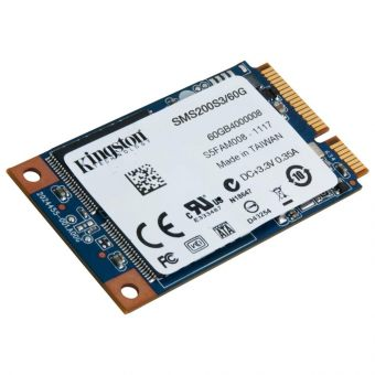 Диск SSD Kingston - SSDNow mS200, for Mobile, mSATA, 60GB, SATA III (6Gb/s), speed write-520MB/s read-550MB/s, MLC, SMS200S3/60G