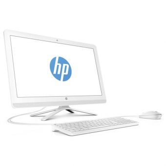 "Моноблок HP - 24-g111ur, 23.8"", Intel Pentium J3710 1600MHz, SODIMM DDR3L 4GB, 1TB, Intel HD Graphics 405, DVD-RW, Wi-Fi, Bluetooth, Белый/Бирюзовый, FreeDOS, Y0Z65EA - фото 1"