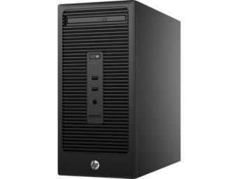 Настольный компьютер HP - 280 G2, Intel Core i3 6100 3700MHz, DIMM DDR4 4GB, 128GB, Intel HD Graphics 530, DVD-RW, Чёрный, Windows 10 Pro 64 downgrade Windows 7 Professional 64, X9D90ES - фото 1