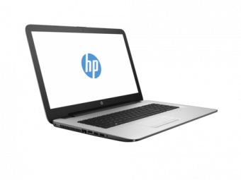 "Ноутбук HP 17-y020ur - 17.3"", 1600x900 (HD+), AMD E2 7110 1800MHz, SODIMM DDR3L 4GB, SSD 128GB, AMD Radeon R2, Bluetooth, Wi-Fi, DVD-RW, 4cell, Белый, Windows 10 Home 64, X7G77EA - фото 1"