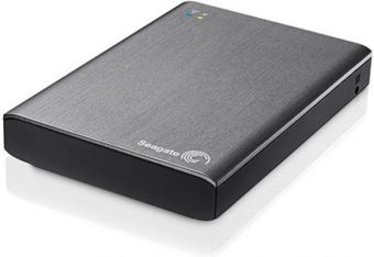 "Внешний диск HDD Seagate Wireless Plus 1TB 2.5"" USB 3.0  Серый WiFi, STCK1000200 - фото 1"