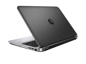 "Ноутбук HP ProBook 450 G3 - 15.6"", 1366x768 (WXGA), Intel Core i3 6100U 2300MHz, SODIMM DDR4 4GB, SSD 128GB, Intel HD Graphics 520, Bluetooth, Wi-Fi, DVD-RW, 4cell, Чёрный, Windows 10 Pro 64 downgrade Windows 7 Professional 64, W4P21EA - фото 1"
