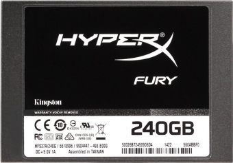 "Диск SSD Kingston HyperX FURY 2.5"" 240GB SATA III (6Gb/s) SHFS37A/240G"