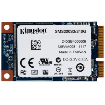 Диск SSD Kingston SSDNow mS200 mSATA 240GB SATA III (6Gb/s) SMS200S3/240G