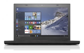 "Ноутбук Lenovo ThinkPad T460 - 14"", 1920x1080 (Full HD), Intel Core i5 6200U 2300MHz, SODIMM DDR3L 4GB, Hybrid 500GB + 8GB, Intel HD Graphics 520, Bluetooth, Wi-Fi, noDVD, 6cell, Чёрный, Windows 10 Pro 64, 20FMS0M900 - фото 1"
