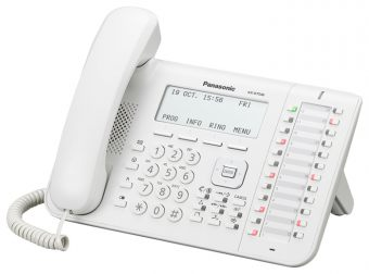 Проводной телефон Panasonic - KX-DT546, LCD, spikerphone, headphone in, Белый, KX-DT546RU
