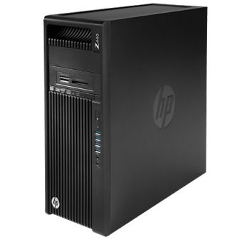 Рабочая станция HP - Z440, Intel Xeon E5 1650v4 3600MHz, DIMM DDR4 16GB, PCI-E 512GB, DVD-RW, Card-reader, Чёрный, Windows 10 Pro 64 downgrade Windows 7 Professional 64, T4K81EA - фото 1