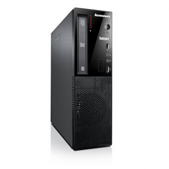"Настольный компьютер Lenovo - ThinkCentre Edge 73, Intel Core i5 4460S 2900MHz, DIMM DDR3 4GB, SATA III (6Gb/s) 3.5"" 1TB, Intel HD Graphics 4600, DVD-RW, Чёрный, Windows 7 Professional 64 + Windows 8 Pro 64, 10AU00GBRU - фото 1"
