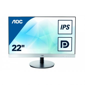 "Монитор AOC I2269VWM 21.5"" LED IPS 250кд/м² 1920x1080 (Full HD) Серебристый I2269VWM/01 - фото 1"