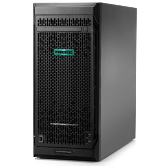 Сервер HP Enterprise - ProLiant ML110 Gen10, 1xIntel Xeon Bronze 3104 1700MHz, DIMM DDR4 REG 1x8GB, 4xLFF, Smart Array S100i, 2x1GbE, noDVD, 350W, Tower, 4.5U, 878450-421