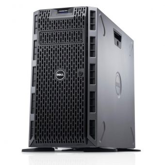 "Сервер Dell - PowerEdge T320, 1xIntel Xeon E5 2420v2 2200MHz, DIMM DDR3 1x8GB, 16xSFF, SAS 2.5"" 1x300GB, PERC H710, 2x1GbE, DVD-RW, 1x495W, Tower, 5U, 210-ACDX-11 - фото 1"