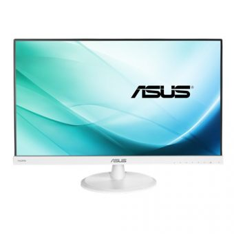 "Монитор Asus - VC239H-W, 23"", 16:9, LED, IPS, 5ms, 250cd/m², 1000:1, 1920x1080 (Full HD), 76Hz, VGA, 1x DVI, 1x HDMI, speakers, цвет Белый, VC239H-W - фото 1"