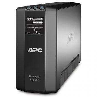 ИБП APC by Schneider Electric Back-UPS Pro 550VA/330W 230V Line-Interactive Hot Swap User Replaceable Batteries LCD Tower  BR550GI - фото 1