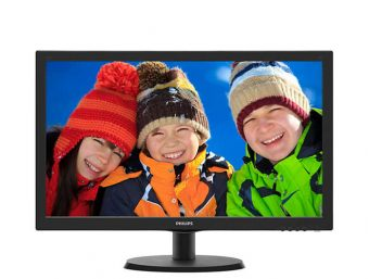 "Монитор Philips - 223V5LHSB2, 21.5"", 16:9, TN, 5ms, 200cd/m², 600:1, 1920x1080 (Full HD), 75Hz, VGA, 1x HDMI, цвет Чёрный, 223V5LHSB2/00"