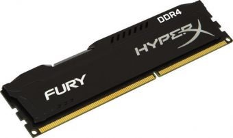Модуль памяти Kingston - HyperX FURY Black, 8GB, DIMM DDR4, non ECC, 2400MHz, CL15, 1.2В, HX424C15FB2/8