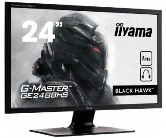 "Монитор Iiyama - G-MASTER GE2488HS-B1, 24"", 16:9, LED, TN, 1ms, 250cd/m², 1000:1, 1920x1080 (Full HD), Speakers, Чёрный, GE2488HS-B1 - фото 1"