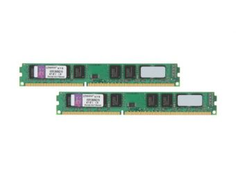 Комплект памяти Kingston - ValueRAM, 16GB, DIMM DDR3, non ECC, 1333MHz, D8 (2Rx8), CL9, 1.5В, (2х8ГБ), KVR13N9K2/16