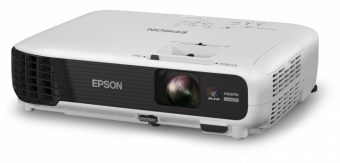 Проектор EPSON - EB-W04, 1280x800 (WXGA), 16:10, LCD, 3000lm, 15000:1, диагональ до 8м, 1x HDMI, 1x VGA in, 1x S-video in, 1x 2RCA audio in, 1x USB, speakers, Серый, V11H718040 - фото 1