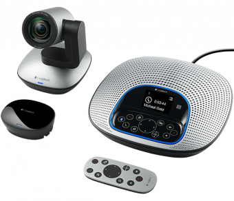 Web-камера Logitech - ConferenceCam CC3000e, 1920 x 1080, USB 2.0, angle of view 90°, angle of rotation ±130°, AF, mic, speakerphone, цвет Серебристый, 960-000983