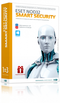 Право пользования ESET NOD32 Smart Security Рус. 3 Box 12 мес. NOD32-ESS-2012RN(BOX)-1-1